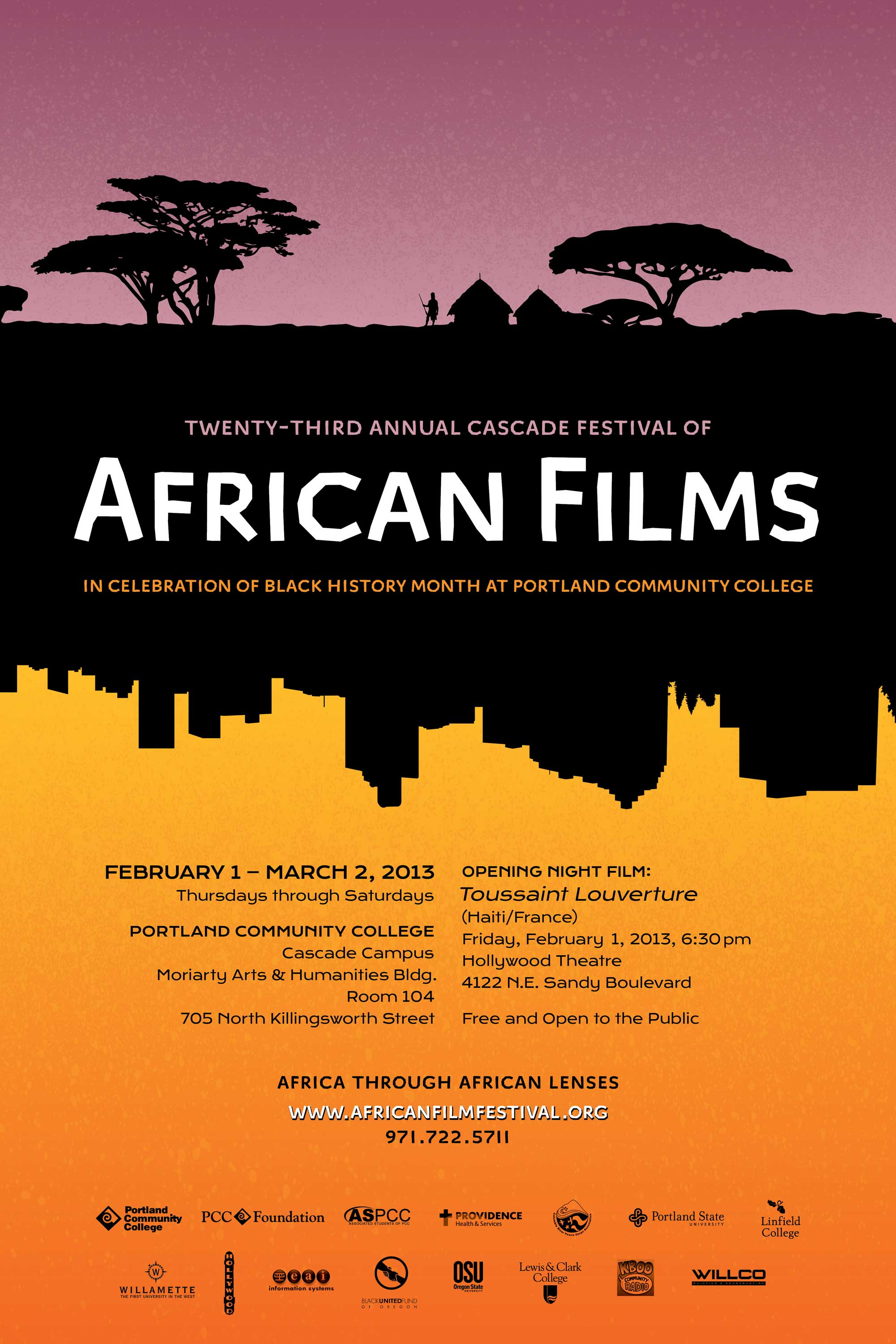 Festival Posters | 26th Cascade Festival of African Films